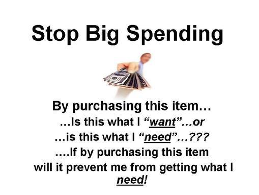 Stop Big Spending The Twelve Steps